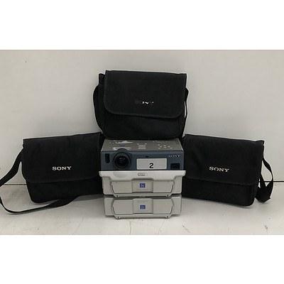 Sony (VPL-CX1) XGA 3LCD Projector - Lot of Three