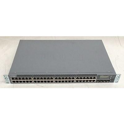 Juniper Networks (EX3300-48P) EX3300 PoE+ 48-Port Gigabit PoE+ Managed Ethernet Switch