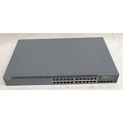 Juniper Networks (EX3300-24P) EX3300 PoE 24-Port Gigabit PoE Managed Ethernet Switch