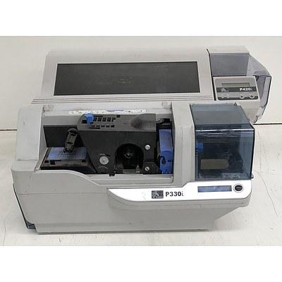 Zebra P330i & P420i Card Printers - Lot of Two
