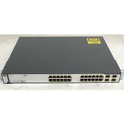 Cisco Catalyst (WS-C3750G-24TS-S1U V03) 3750G Series 24-Port Gigabit Managed Switch