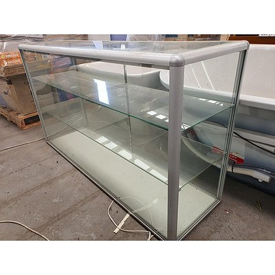 Silver/Glass Display Cabinet