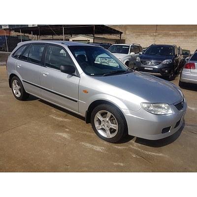 6/2003 Mazda 323 Astina Shades BJ 5d Hatchback Silver 1.8L