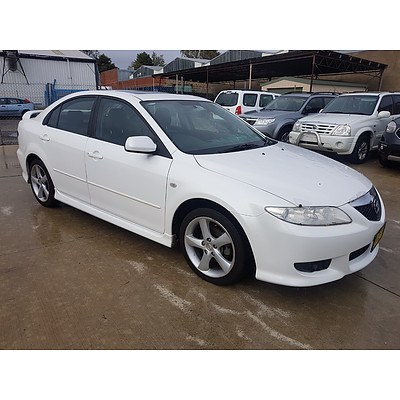 6/2003 Mazda Mazda6 Luxury GG 5d Hatchback White 2.3L