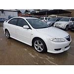 6/2003 Mazda Mazda6 Luxury GG 5d Hatchback White 2.3L