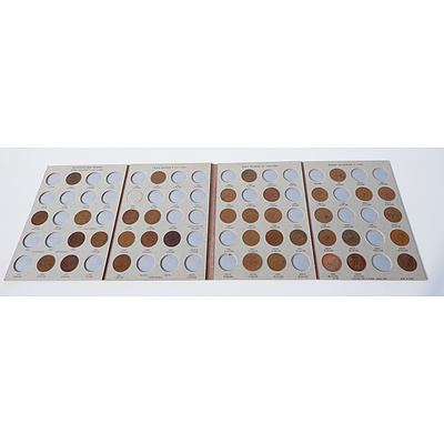 Dansco Australia Penny Collectors Book with Thirty Seven Pennies
