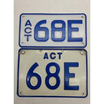 ACT Number Plate 68E