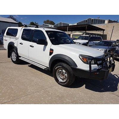 6/2009 Ford Ranger XL (4x4) PJ 07 UPGRADE Dual Cab P/up White 3.0L