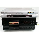 Panasonic NV-SJ230 VHS VCR Player & Pioneer PD-F507 File-Type Compact Disc Player