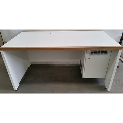 Computer Desk/Workstation With PC Cabinet - Lot of Two
