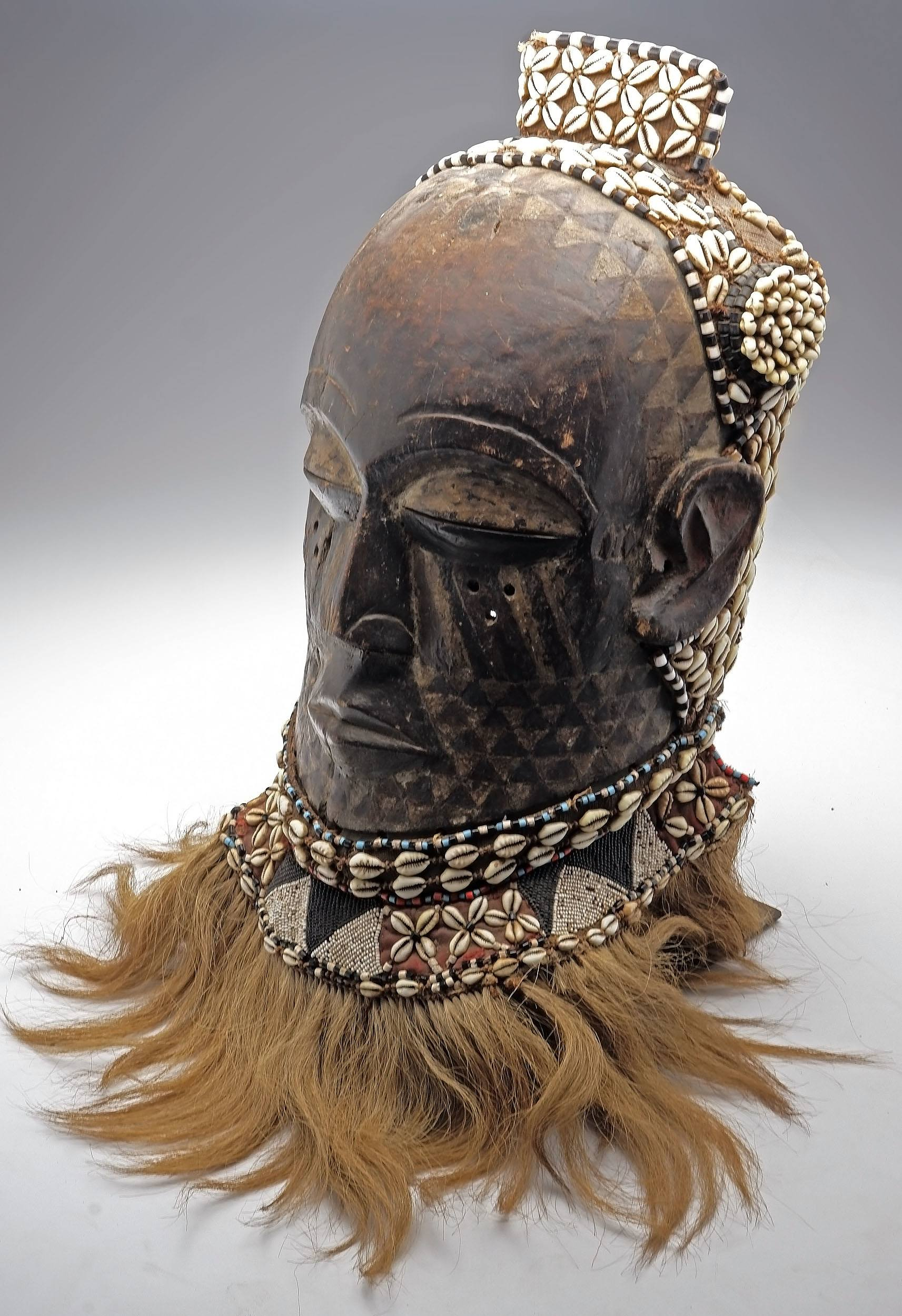 'Kete Mask, Kuba People, South East Democratic Republic of Congo, Ex Vittorino Meneghelli Collection'
