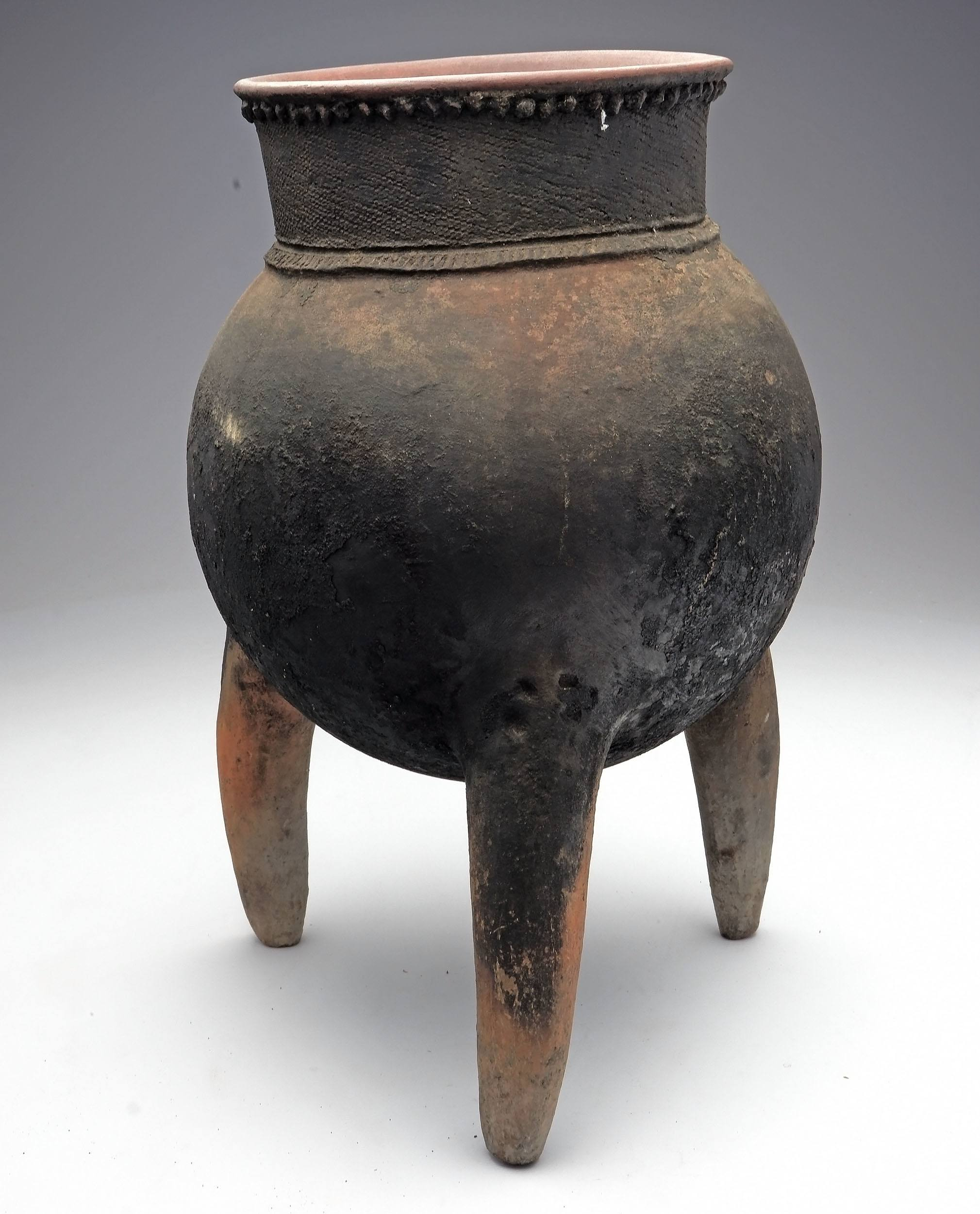 'Ceramic 3-Legged Cooking Pot, Republic of Chad'