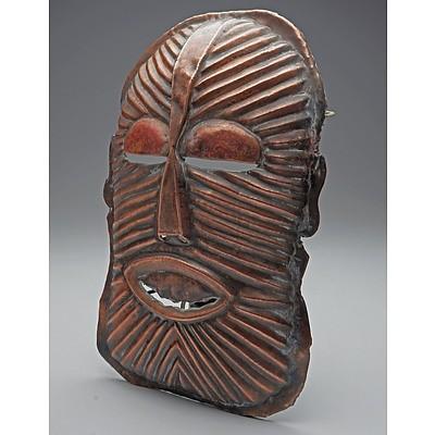 Copper Mask, Chokwe Tribe, Eastern Zambia