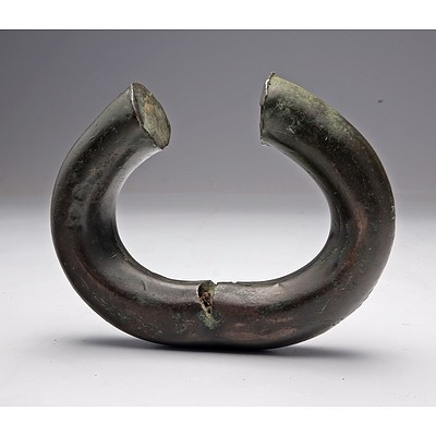 Copper Currency Bracelet, Traded Early 1900's, Angola