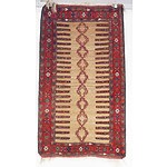 Central Persian Sofreh Mixed Medium Wool Pile and Slit weave Kilim  Rug