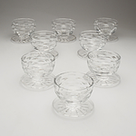Eight Waterford Cut Crystal Dessert Comports