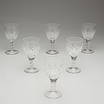 Six Stuart Crystal Sherry Glasses