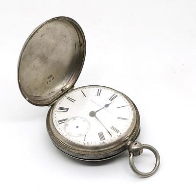 Sterling Silver Cased Elgin Pocket Watch, Birmingham