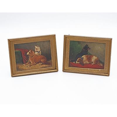 Two Miniature Canine Portraits