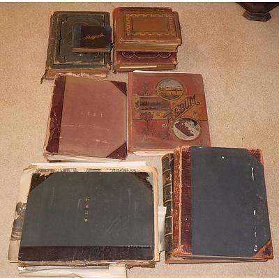 Group of Antique Photo Albums, Scrap Books, Ephemera etc