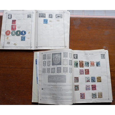 Two Partially Filled Stamp Albums From Great Britain, Hungary, Germany and More