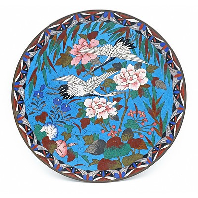 Two Japanese Cloisonne Dishes