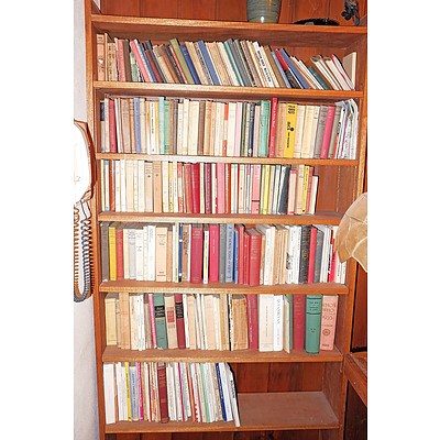 Six Shelves of Various Antique and Vintage Books