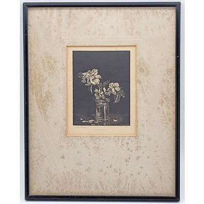 Lionel Lindsay (1874-1961) Apple Blossom, Wood Engraving