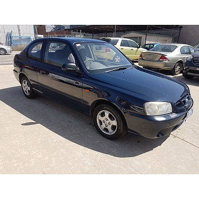 7/2000 Hyundai Accent GL LC 3d Hatchback Blue 1.5L