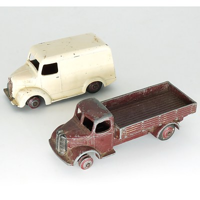 Vintage English Dinky Trojan Van and Austin Truck