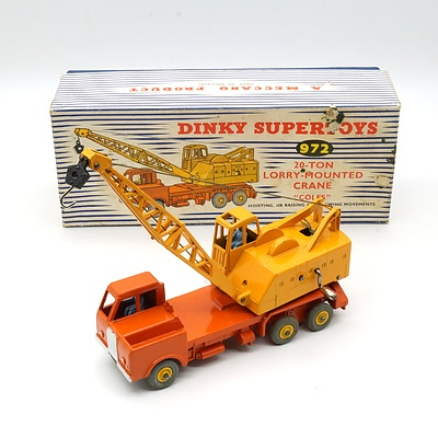 Vintage English Dinky Supertoys 927 20 Ton Lorry Mounted Crane 'Coles' with Original Box