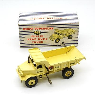 Vintage English Dinky Supertoys 965 Euclid Rear Dump Truck with Original Box