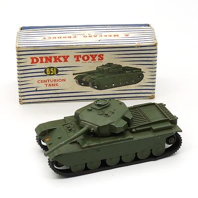 Vintage English Dinky Toys 651 Centurion Tank with Original Box