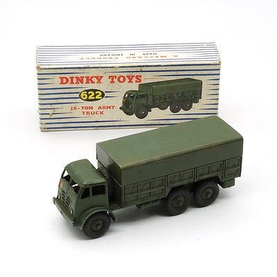 Vintage English Dinky Toys 622 10 Ton Army Truck With Original Box