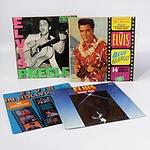 Four Elvis Presley RCA Vinyl LP Records INcluding ELvis in Hollywood, Elvis Moody Blue, Elvis in Blue Hawaii and MOre