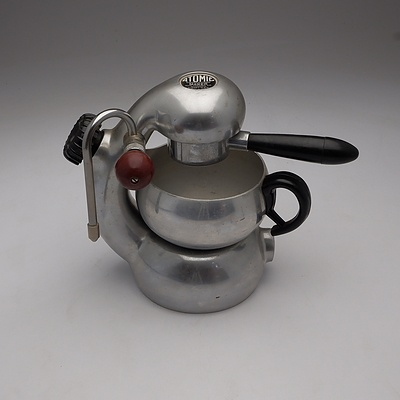 An Atomic Cappuccino Machine Retailed by Bon Trading Company with Original Instruction Book