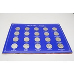 A Set of Commemorative Coins for the Marriage of Princess Diana and the Queen Mothers 80th Birthday in Folder and Australian 200 years Commemorative Medals in Folder