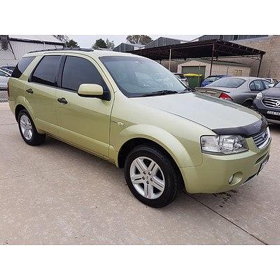 5/2004 Ford Territory GHIA (4x4) SX 4d Wagon Green 4.0L