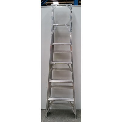 Aluminium 10 Rung Folding/Flip Ladder