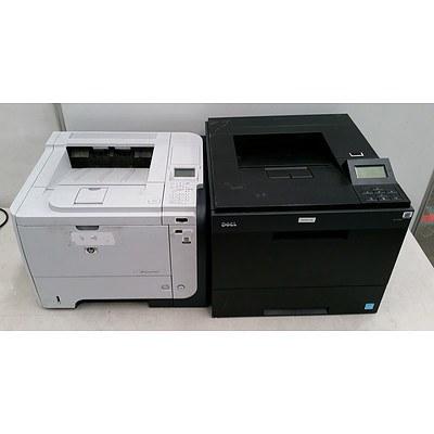 Dell, Hp, 5330dn, p3015dn Black & White Laser Printers