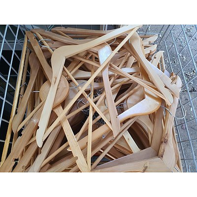 Cage of Timber Coat-hangers