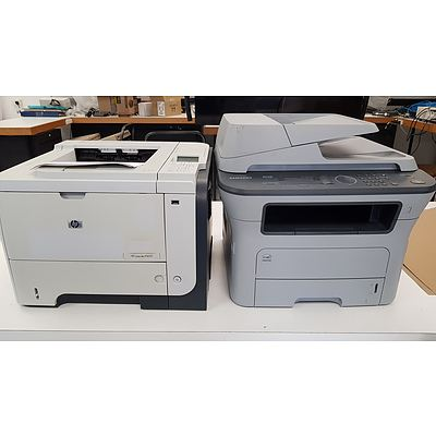 HP3015 & Samsung MFD Printers - Lot of 6