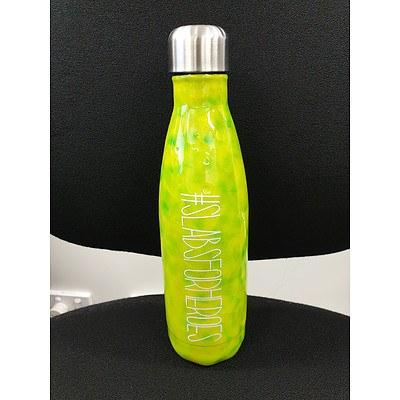 Customised drink bottle with #SLABSFORHEROES logo I
