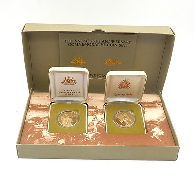 The Anzac 75th Anniversary Commemorative Coin Set 1990
