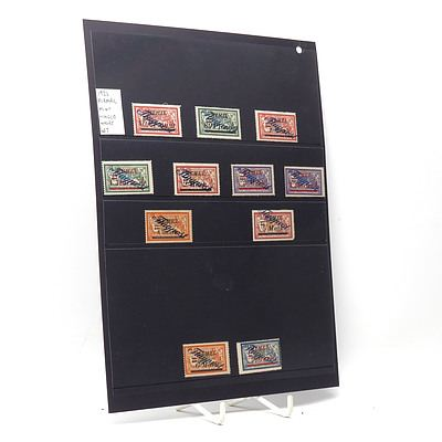 1922 Airmail Stamps, Hinged