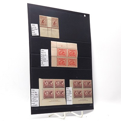 1932 Pair of Ash Imprint Stamps, 1930 Block of Four Southern Cross Stamps and More