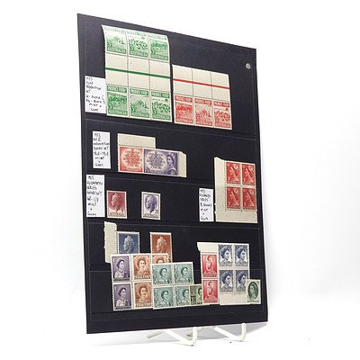 1953 Food Production Block of Six Stamp Set, 1953 Queen Elizabeth II Coronation Stamp Set and More