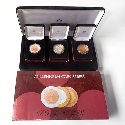 RAM Millennium Coin Series, 1999 The Past, 2000 The Present and 2001 The Future