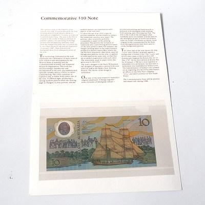 1988 Australian Polymer Bicentennial Commemorative $10 Note, AA11076777
