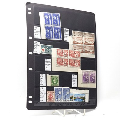 1955 U.S. Friendship 3 1/2d Block of Four Stamps, 1956 Melbourne Olympics Stamps and More